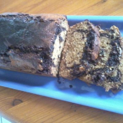 Marbré pain d'épices/chocolat fondant