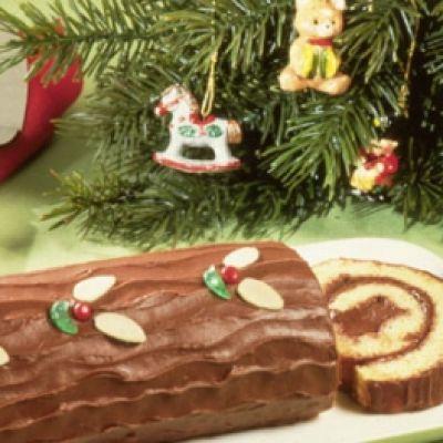 Bûche chocolat... et gingembre